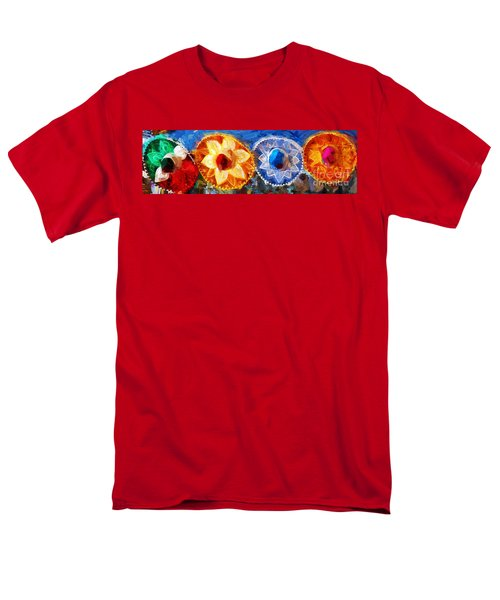Men's T-Shirt  (Regular Fit) featuring the photograph Four Amigos In Cozumel by Sue Melvin