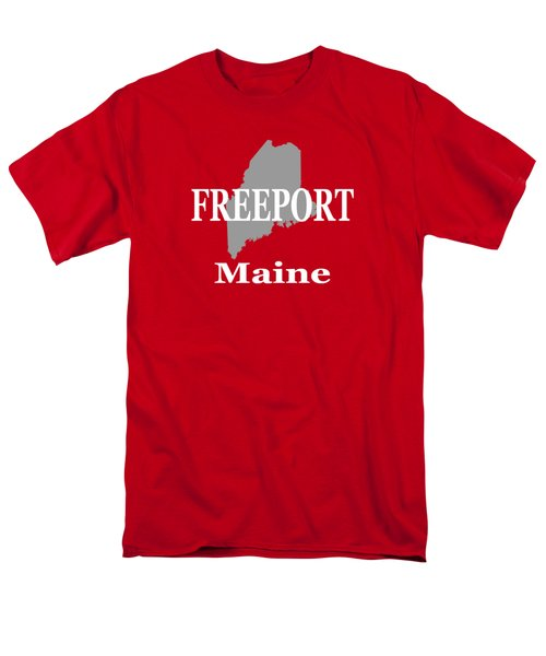 Men's T-Shirt  (Regular Fit) featuring the photograph Freeport Maine State City And Town Pride  by Keith Webber Jr