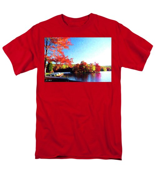 French Creek Fall 020 Men's T-Shirt  (Regular Fit) by Scott McAllister