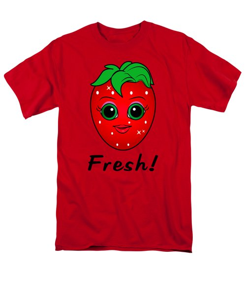 Fresh Strawberry Men's T-Shirt  (Regular Fit) by A