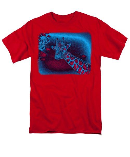 Friendly Giraffe Abstract Decor Men's T-Shirt  (Regular Fit) by John M Bailey