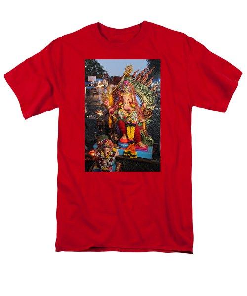 Ganesha Arati On Ganesh Chaturthi, Ganeshpuri Men's T-Shirt  (Regular Fit) by Jennifer Mazzucco