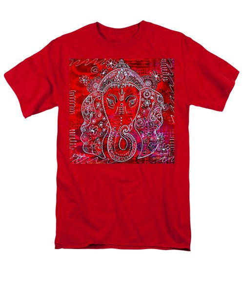 Men's T-Shirt  (Regular Fit) featuring the painting Ganesha by Julie Hoyle