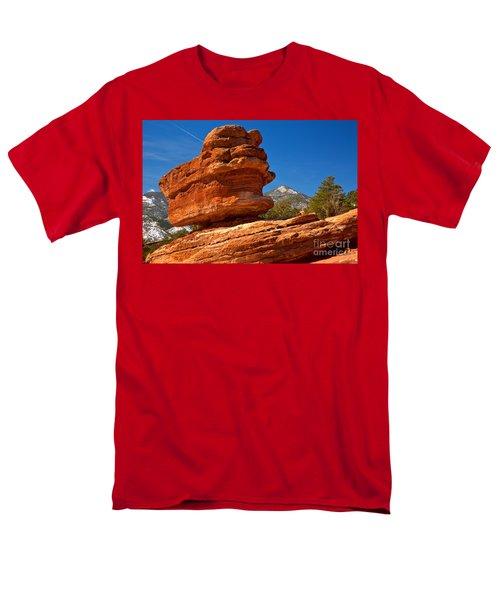 Men's T-Shirt  (Regular Fit) featuring the photograph Garden Of The Gods Balanced Rock by Adam Jewell