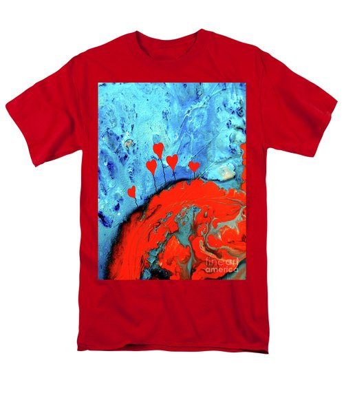 Men's T-Shirt  (Regular Fit) featuring the painting Germinating Love by Saribelle Rodriguez