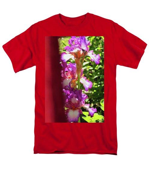 Glowing Iris Tower - Behind The Red Curtain Men's T-Shirt  (Regular Fit) by Brooks Garten Hauschild