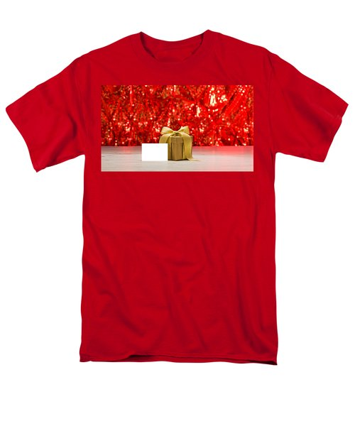 Men's T-Shirt  (Regular Fit) featuring the photograph Gold Present With Place Card  by Ulrich Schade