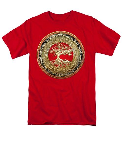 Golden Celtic Tree Of Life  Men's T-Shirt  (Regular Fit) by Serge Averbukh