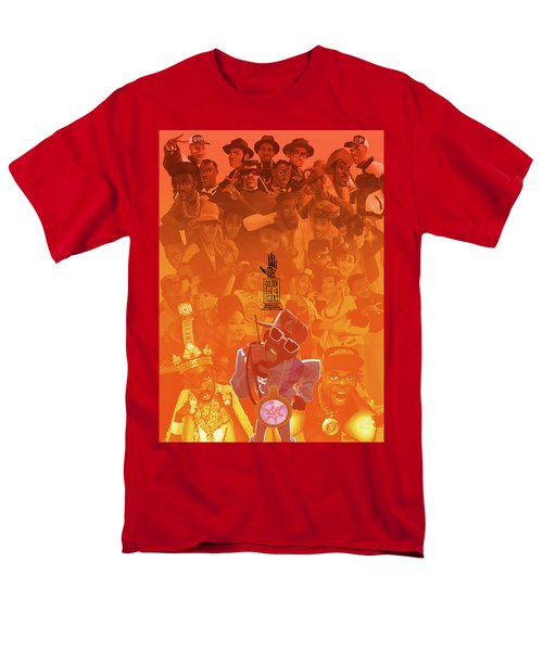 Men's T-Shirt  (Regular Fit) featuring the digital art Golden Era Icons Collage 1 by Nelson dedos Garcia