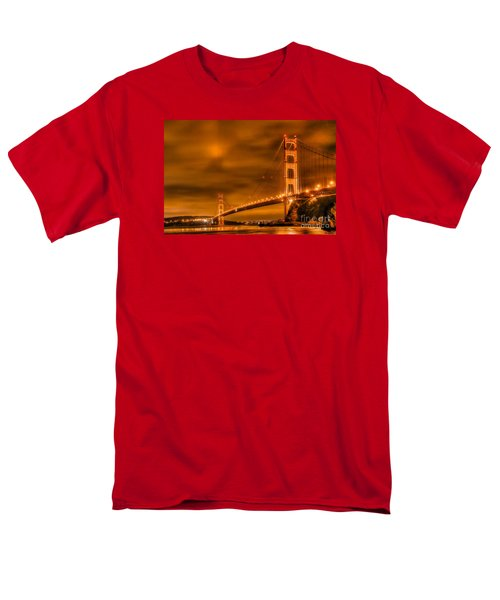 Men's T-Shirt  (Regular Fit) featuring the photograph Golden Gate Bridge - Nightside by Jim Carrell
