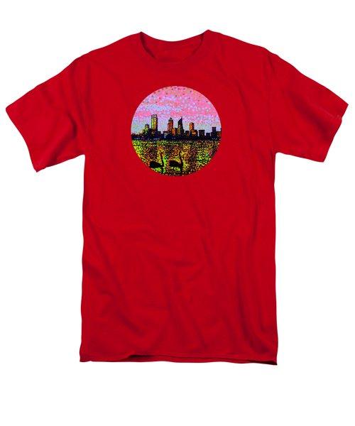 Golden Skyline Perth Men's T-Shirt  (Regular Fit) by Alan Hogan