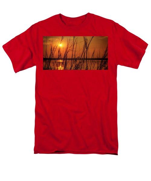 Golden Sunset At The Lake Men's T-Shirt  (Regular Fit) by John Williams