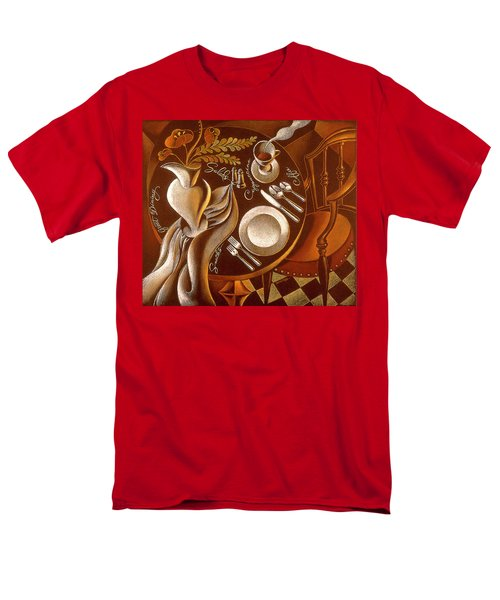 Men's T-Shirt  (Regular Fit) featuring the painting Great Dining by Leon Zernitsky