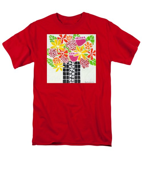 Happy Flowers Men's T-Shirt  (Regular Fit)