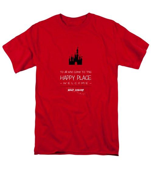 Happy Place Men's T-Shirt  (Regular Fit)