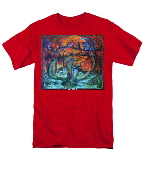 Men's T-Shirt  (Regular Fit) featuring the painting Harvesters Of The Autumnal Swamp by Christophe Ennis