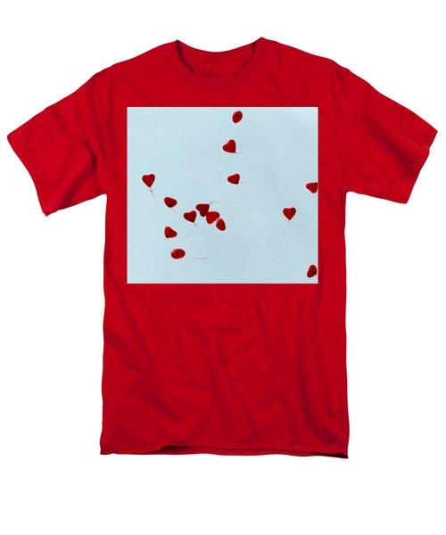 Heart Balloons In The Sky Men's T-Shirt  (Regular Fit)