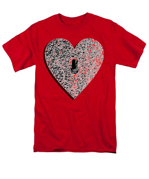 Heart Shaped Lock Red .png Men's T-Shirt  (Regular Fit) by Al Powell Photography USA