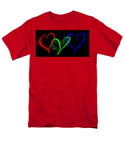 Hearts On Black Men's T-Shirt  (Regular Fit) by Swank Photography