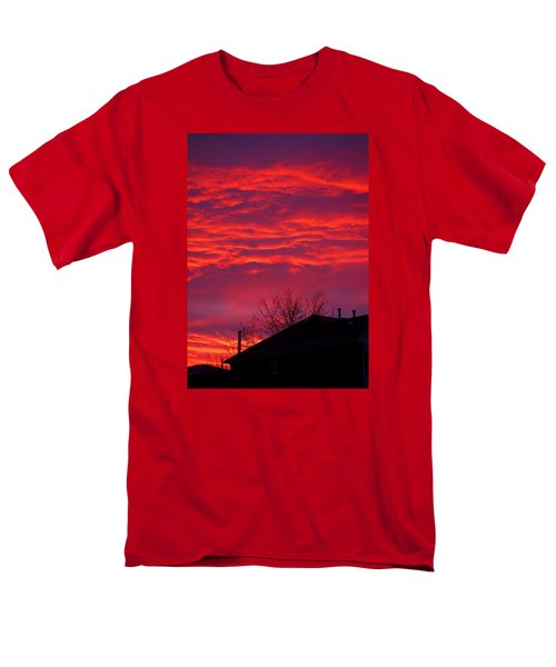 Men's T-Shirt  (Regular Fit) featuring the photograph Hell Over Ontario by Valentino Visentini
