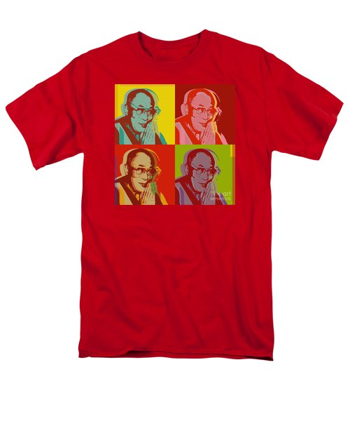 Men's T-Shirt  (Regular Fit) featuring the digital art His Holiness The Dalai Lama Of Tibet by Jean luc Comperat