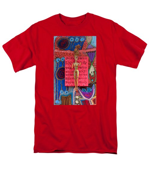 Men's T-Shirt  (Regular Fit) featuring the painting Holy Basil Herbal Tincture by Clarity Artists