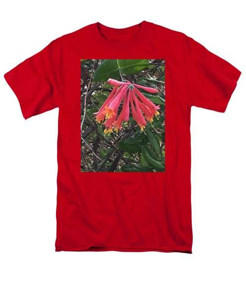 Men's T-Shirt  (Regular Fit) featuring the photograph Honeysuckle by Kay Gilley