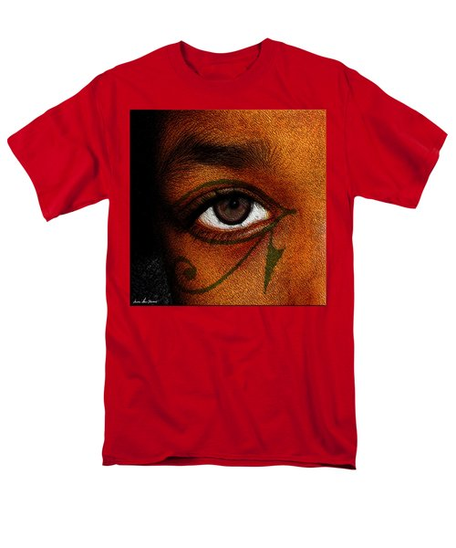 Men's T-Shirt  (Regular Fit) featuring the digital art Hru's Eye by Iowan Stone-Flowers