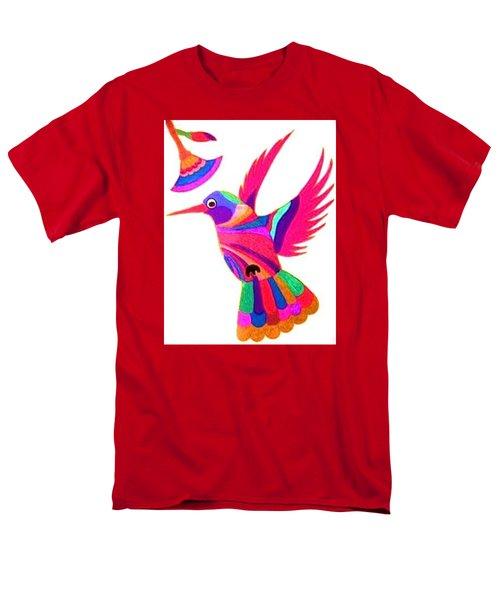 Humming Bird Men's T-Shirt  (Regular Fit) by Kruti Shah