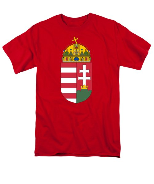 Men's T-Shirt  (Regular Fit) featuring the drawing Hungary Coat Of Arms by Movie Poster Prints