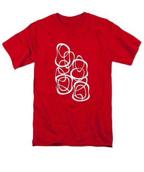 Interlocking - White On Red - Pattern Men's T-Shirt  (Regular Fit) by Menega Sabidussi