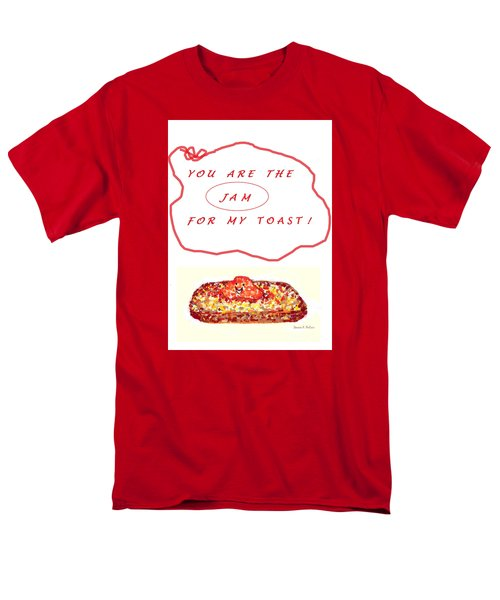 Men's T-Shirt  (Regular Fit) featuring the drawing Jam For My Toast by Denise Fulmer