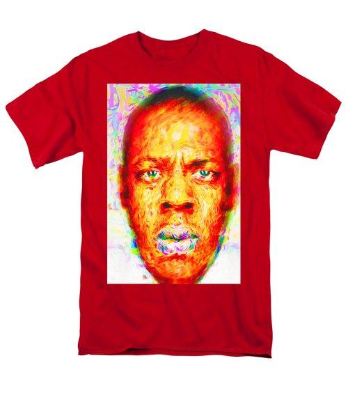 Jay-z Shawn Carter Digitally Painted Men's T-Shirt  (Regular Fit) by David Haskett