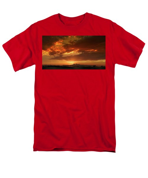Men's T-Shirt  (Regular Fit) featuring the photograph June Sunset by Rod Seel
