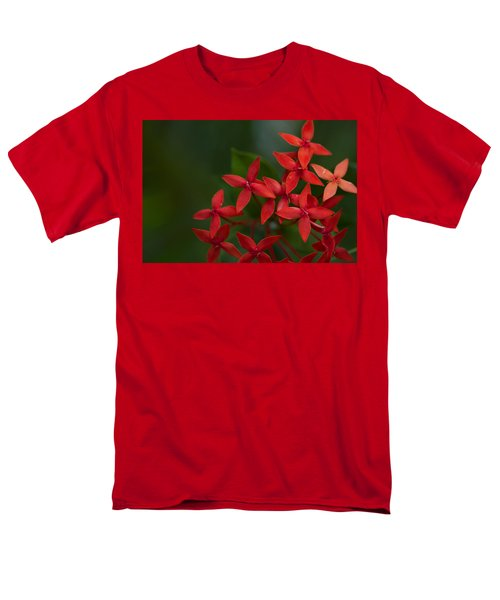 Jungle Geranium Men's T-Shirt  (Regular Fit) by Marlo Horne