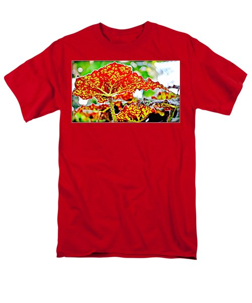 Men's T-Shirt  (Regular Fit) featuring the photograph Jungle Leaf by Mindy Newman