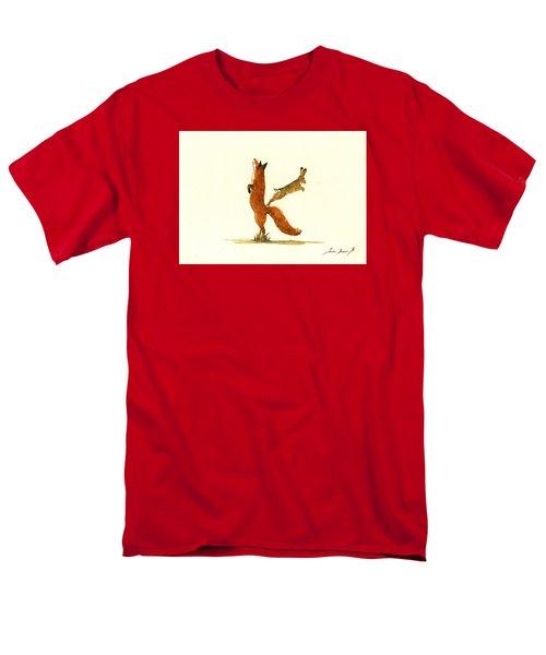 K Letter Woodland Alphabet Men's T-Shirt  (Regular Fit)