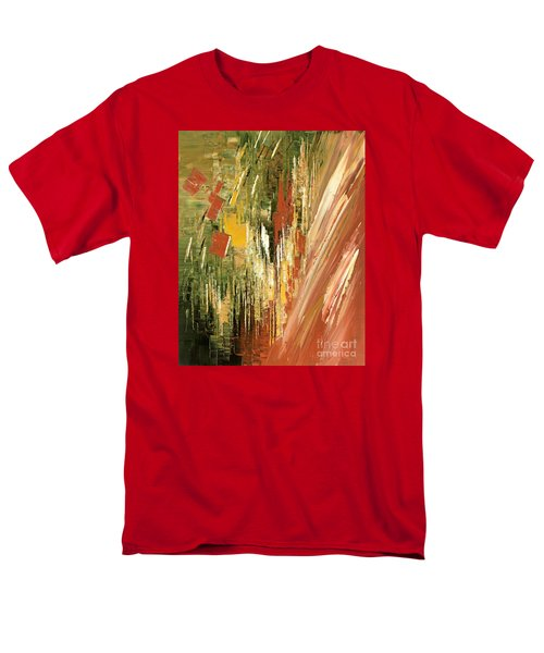 Men's T-Shirt  (Regular Fit) featuring the painting Kinetic Creativity by Tatiana Iliina