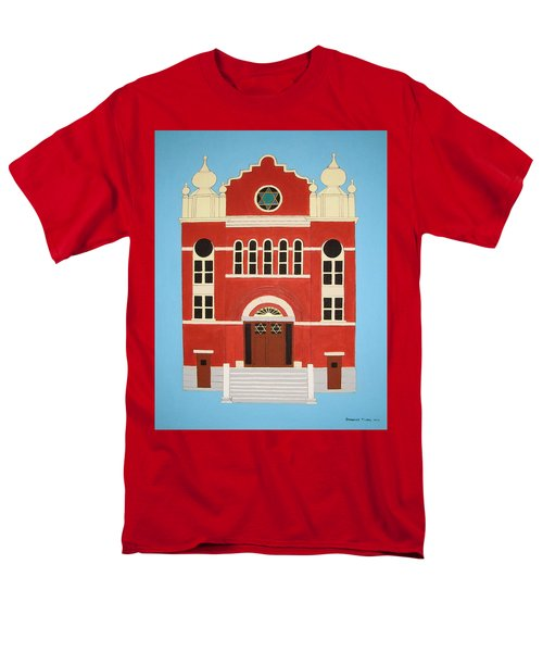 Men's T-Shirt  (Regular Fit) featuring the painting King Edward Street Shul by Stephanie Moore