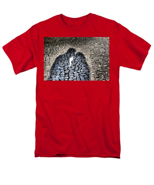 Kiss Me On The Cobblestone Men's T-Shirt  (Regular Fit) by Dora Hathazi Mendes