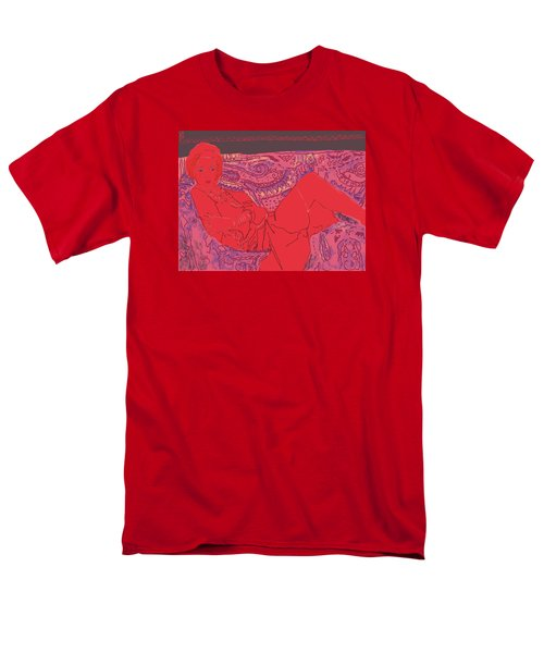 Lady In Red Men's T-Shirt  (Regular Fit)