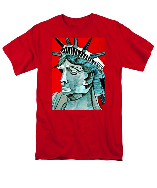 Lady Liberty Men's T-Shirt  (Regular Fit) by Anna Porter
