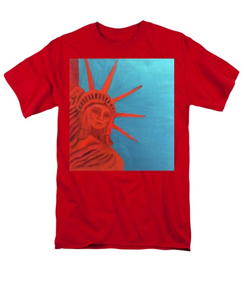 Lady Liberty Men's T-Shirt  (Regular Fit) by Margaret Harmon