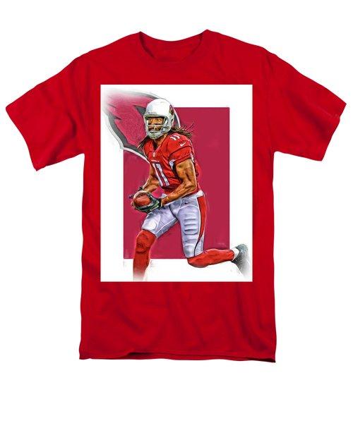 Larry Fitzgerald Arizona Cardinals Oil Art Men's T-Shirt  (Regular Fit) by Joe Hamilton
