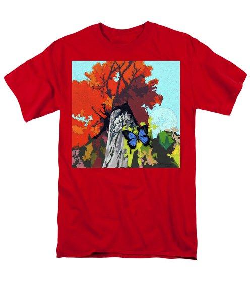 Last Butterfly Before Winter Men's T-Shirt  (Regular Fit) by John Lautermilch
