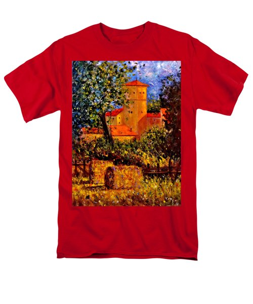 Men's T-Shirt  (Regular Fit) featuring the painting A Gust Of Wind.. by Cristina Mihailescu