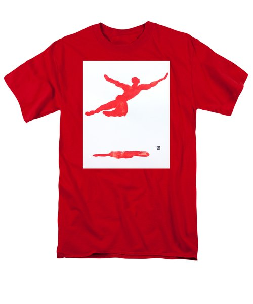 Leap Water Vermillion Men's T-Shirt  (Regular Fit) by Shungaboy X