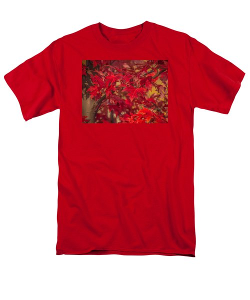 Men's T-Shirt  (Regular Fit) featuring the photograph Leaves Of Red by Cathy Donohoue