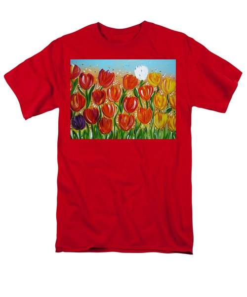 Les Tulipes - The Tulips Men's T-Shirt  (Regular Fit) by Gioia Albano