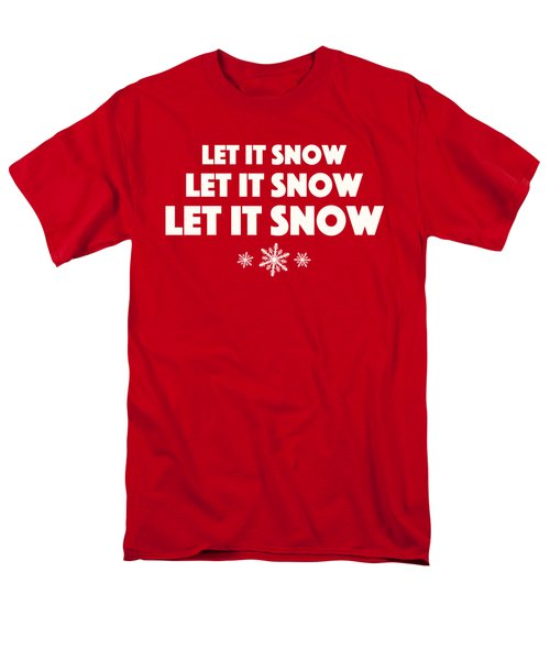 Let It Snow With Snowflakes Men's T-Shirt  (Regular Fit) by Heidi Hermes